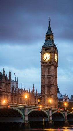 westminster: view of big ben with westminster bridge in the foreground