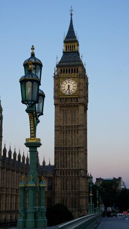 view of big ben with westminster bridge in the foreground