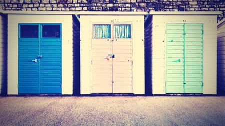 Beach Huts Stock fotó