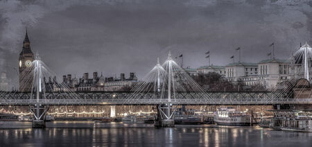 Hdr image of Big ben shot from the thames