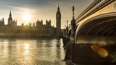sunset Thames