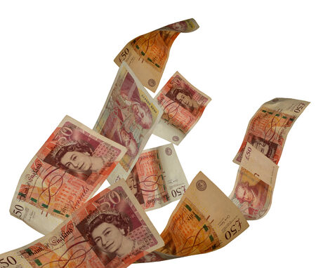 bank notes: Uk currency Stock Photo