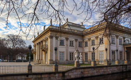 Royal Baths Park (Lazienki Park) in spring. Warsaw, Poland