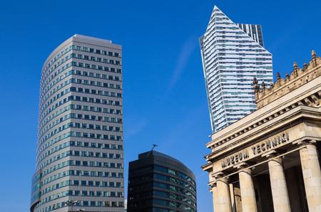 Business-Wolkenkratzer im Zentrum von Warschau Polen