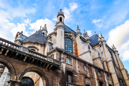 Beautiful church in the historic center of Paris France