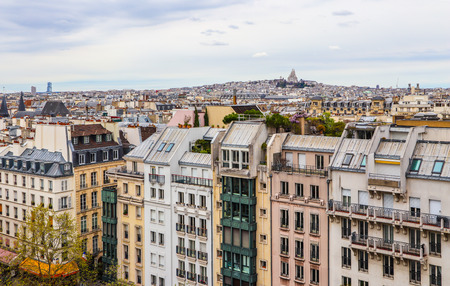 View of Paris city in spring. France. April 2019