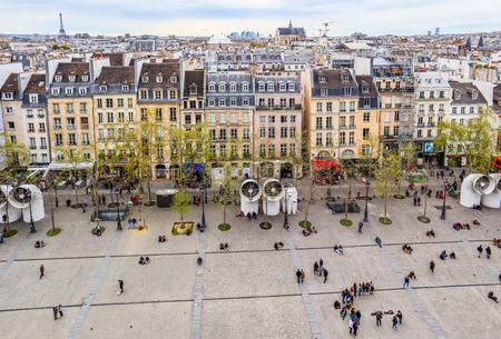 Paris  France - April 07 2019: View of Paris city from Center of Pompidou in spring Redakční