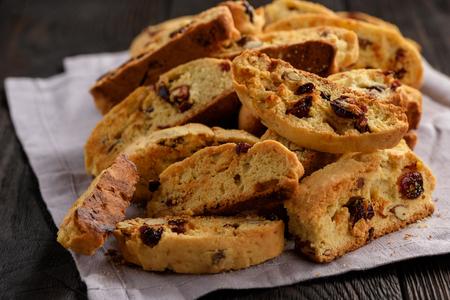 Homemade almond cranberry biscotti. 写真素材