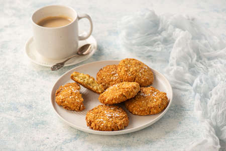 Gluten free millet cookies with coconut flakes.