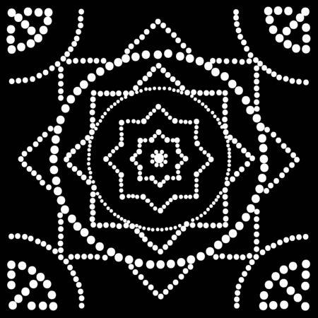 monochrome: Dot painting. Monochrome. Vector image. Illustration