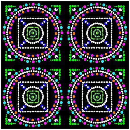 mosaic: Mosaic vector. Tile.