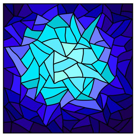 blue glass: Stained glass. Vector.