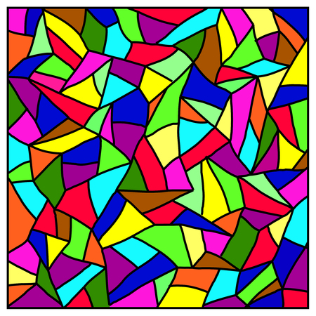 Stained glass. Vector.