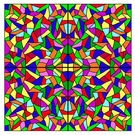 stained: Stained glass. Vector.