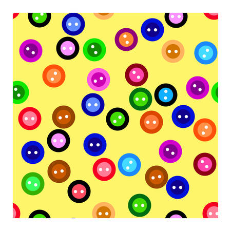 seamless: Button. Seamless pattern. Vector. Illustration