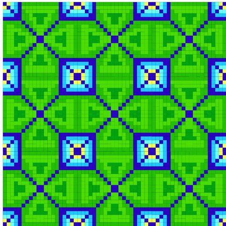 mosaic: Mosaic tile. Vector art.