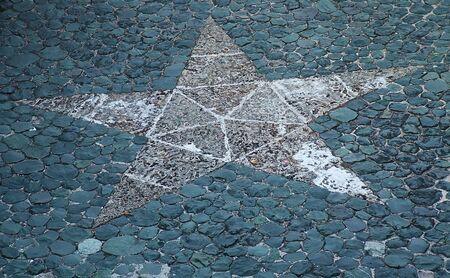 Mosaico di una stella da rocce.  Archivio Fotografico - 5846875