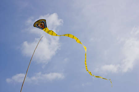 kite snake shape country side in Thailand