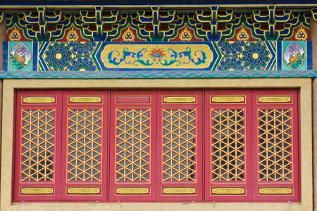 patterns in chines style at chinese temple Stock Photo