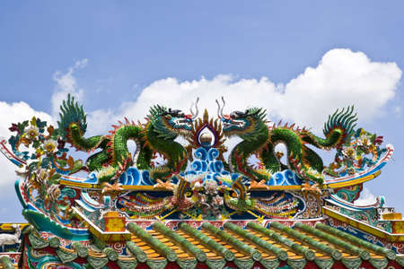 dragon statue in Chinese style