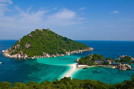 nang yuan island beach at south of thailand