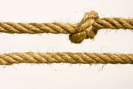 rope knot: knot one straight one of rope