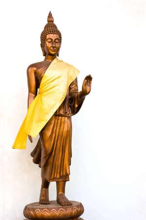 copper buddha image Stock Photo