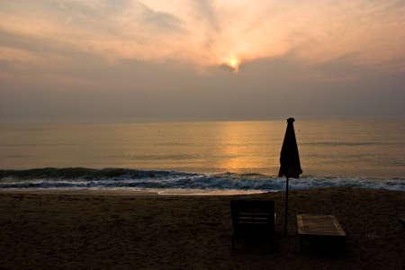 dawn at peaceful beach