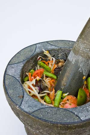 papaya salad a kind of Thai food