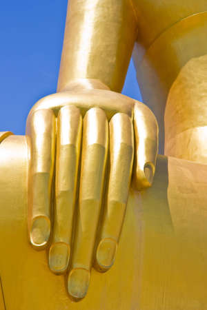 gold hand of big image