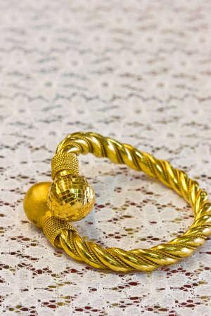 pure golden bangle Stock Photo