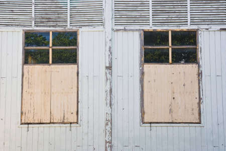 antique wooden wall and windows Stock Photo - 11299798