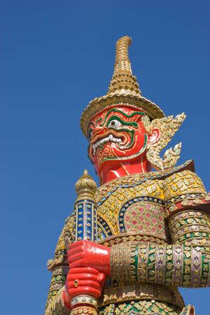 red giant image aroundthe temple of emerald Buddha Bangkok Thailand