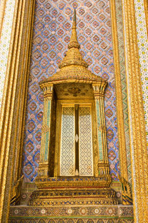 architecture around the temple of emerald Buddha Bangkok Thailand