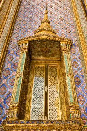 architecture around the temple of emerald Buddha Bangkok Thailand photo