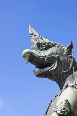 serpent image around the temple of emerald Buddha Bangkok Thailand Stock Photo