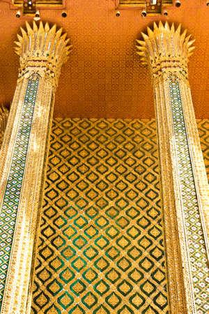 architecture around Buddha church at the temple of emerald Buddha Stock Photo