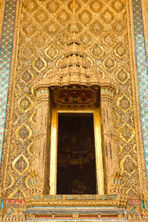 architecture around the temple of emerald Buddha Bangkok Thailand
