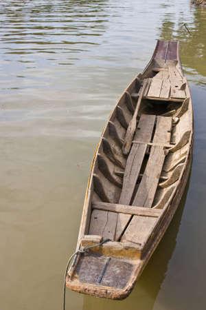 folk boat on countryside inThailand Stock Photo