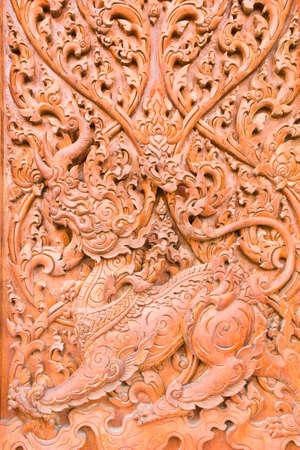 engraving by teak wood Stock Photo - 14255647