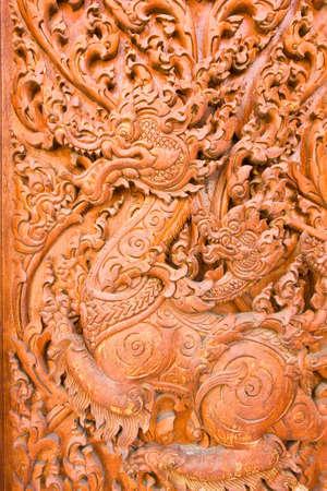 engraving by teak wood Stock Photo - 14255649