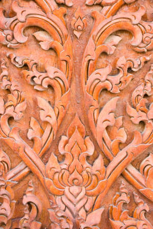 engraving by teak wood Stock Photo - 14255643