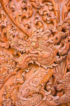 engraving by teak wood Stock Photo - 14255963