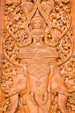 engraving by teak wood Stock Photo - 14255648