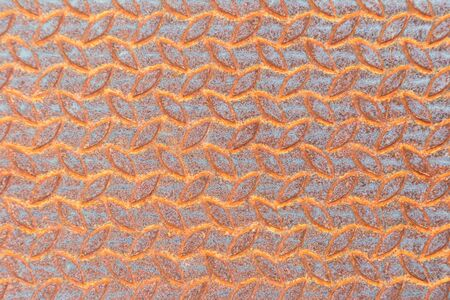 Rusty metal texture or rusty metal background. rusty metal for interior exterior decoration design business and industrial construction concept design. Rusty metal is caused by moisture in the air. Stock Photo