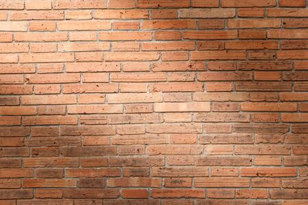 Brick wall texture or brick wall background. brick wall for interior exterior decoration and industrial construction concept design. brick wall motifs that occurs natural.