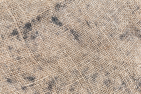 Brown sackcloth or burlap texture backgroun for fabric cloth or garment design. Stock Photo