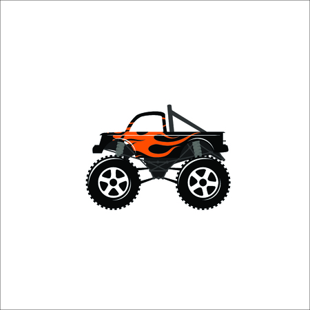 Monster truck icon. Vector Illustration Illustration