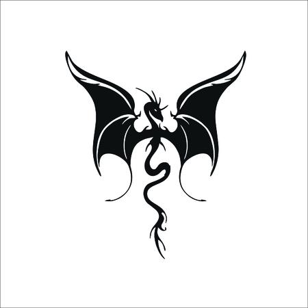 Flying dragon icon Stock Illustratie