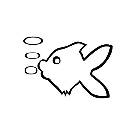 Fish icon. Vector Illustration
